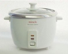Stainless Steel Rice Cooker Model ME81 (Formerly ME8) - by Miracle Exclusives:Amazon:  Get rid of your scratched up Teflon cooker today!