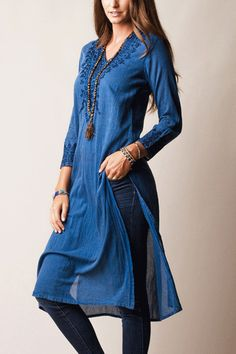 Indian Cotton Punjabi Kurti Tunic