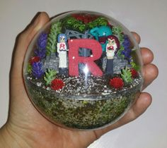 Mini miniature artificial terrarium diorama ornament decoration Pokemon Go Handmade toy Team Rocket Jessie James Wobbuffet $40 plus postage   Pokemon habitat ball  To see all the Pokemon habitat balls I have made or to place an order, please visit my Facebook page https://m.facebook.com/sparklesandstring/