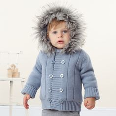 Aliexpress.com : Buy Sunlun Wholesale Davebella infant spring thickening knitted with a hood baby yarn cotton padded jacket cardigan j3602 on Sunlun Wholesale And Retail Center. $78.69