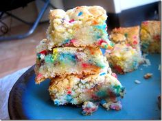 Cake batter brownies!