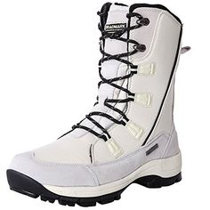 Roadmark Womens Waterproof Winter Snow Boots Mid Calf Rain Warm Boot White >>> Check out the image by visiting the link. (This is an affiliate link) Warm Boots, Rain And Snow Boots, Winter Snow Boots, Women's Lace Up Boots, Red Leather Boots, Discount Designer Shoes, Designer Boots, Winter Accessories, Women Accessories