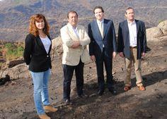 Borja Sarasola anunció un plan de reforestación en su visita a Robledo de Chavela