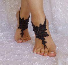 Free delivery bridal anklet little melange black Beach wedding barefoot sandals bangle, wedding anklet anklet  bridal wedding