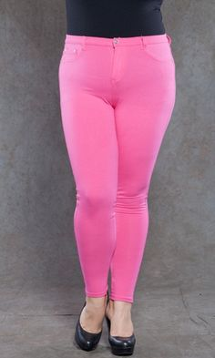 Zoe Jeggings - Fuchsia $39. I absolutely love these. Plus sized women can wear bright bottoms too, just pair them with a solid top and a nice flat or pump and voila!