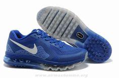 2014 621078-019 Hommes Nike Air Max 2014 Royal Bleu Noir Chaussures