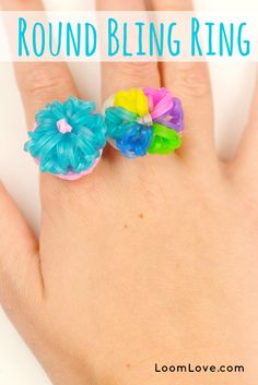 How to Make a Rainbow Loom Round Bling Ring