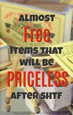 Almost Free Items That Will Be Priceless After SHTF