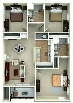 This Is A Good Small House Plan Walk In Closets And Laundry Needs My Master  Sunroom | Condo | Pinterest | Small House Plans, Smallest House And Sunroom