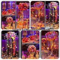 Jeweled tone wedding decor.