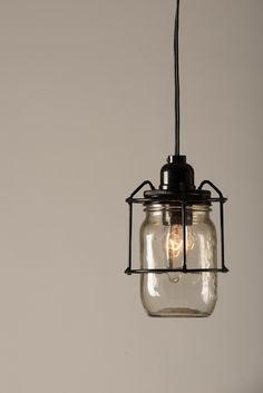 Hanging mason jar light . $65.00, via Etsy.