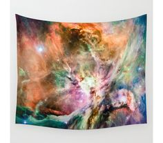Orion Nebula Wall Tapestry Space Tapestry by EarthMoonStarsStudio
