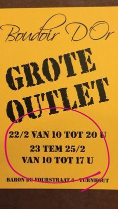 Grote stockverkoop Boudoir D'Or  -- Turnhout -- 22/02-25/02