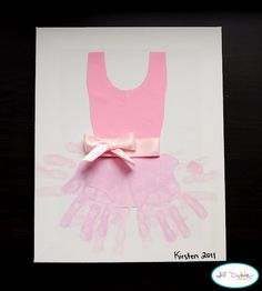 Finger paint art A list of 59 ideas for hand and foot prints! handprint tutu art for kids