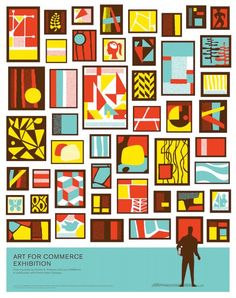 Art for Commerce Poster (CSA Design & Laurie DeMartino Exhibit), Charles S. Anderson Design