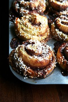 pearl-sugar topped cinnamon buns, just baked by alexandracooks, via Flickr