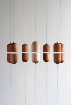 Eske Rex - Divided Self - Oak, leash, magnets - 26 x 14 x 6 cm, 2014