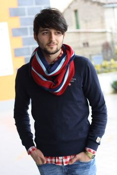 Italian fashion blogger Francesco Barcello (of tucknchic.com) wearing a Smart Turnout Royal Air Force Scarf