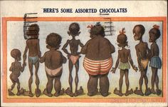Here's Some Assorted Chocolates Black Americana.   Omg!!! Can you even believe this used to be at card stores??
