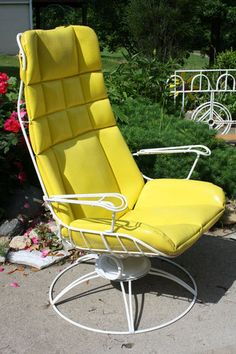 Vintage Homecrest 1950 S Rocking Wire Chair Patio Retro Eames Mid Century W Pad