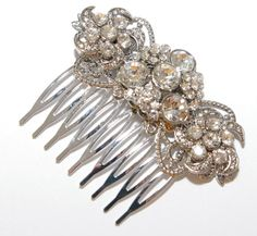 Audrey  Wedding Hair Comb Bridal Accessories White by GlitzAndLove, $33.00