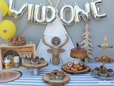 baby boy birthday party 23 boys Birthday party ideas for toddlers 1st Birthday Themes, One Year Birthday, Wild One Birthday Party, Baby Boy Birthday, Boy Birthday Parties, Birthday Table, Boys First Birthday Party Ideas, Birthday Celebration, Birthday Banners