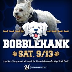 Poster for Hank Bobble head night