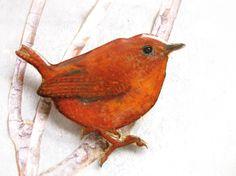 bird brooch on dawanda