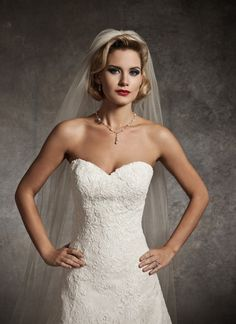 Gorgeous strapless, sweetheart, A-line #weddinggown.  We have this gown in store so call now...  #bride #wedding #dress #ido #Youngstown #ohio