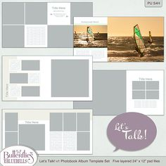 Let's Talk! Photobook Templates