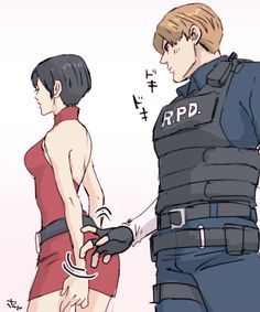 Resident Evil: Ada Wong e Leon S. Ada Wong, Ada Resident Evil, Resident Evil Anime, Comic Collage, Leon S Kennedy, Evil Games, The Evil Within, King Of Fighters, Jojo Bizzare Adventure