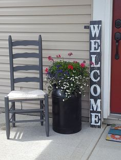 Check out this item in my Etsy shop https://www.etsy.com/listing/240986942/vertical-welcome-sign-entryway-sign