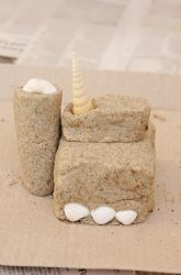 Activities: Make a Sandcastle You Can Keep!  This is a great craft for summer camp.  If using sand castle molds use siran wrap inside to ensure easy release for your beautiful castle.