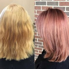 Love this blush hair color by #Kenra Educator, @cassieliz_hair! She used #KenraColor 8VM + a touch of 7RR melted into 9VM + a touch of 7RR. She did accents of 10SM + 7RR. #MetallicObsession #KenraEducation #Kreate