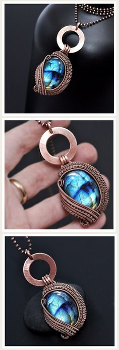 Nicole Hanna Jewelry signature collection, copper jewelry, wire wrap pendant, bohemian jewelry, wearable art, creative design