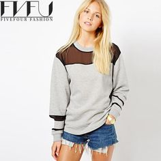 Fashion Sweatshirt Women Spring Autumn Casual Gray Sweatshirt Plus Size xxl Sweatshirt Long Sleeve Sudaderas Mujer 2017. Yesterday's price: US $44.00 (35.95 EUR). Today's price: US $24.64 (20.33 EUR). Discount: 44%.