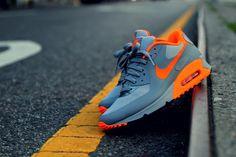 Sweetsoles – Nike Air Max 90 Hyperfuse - Grey/Orange