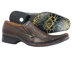 Men's Dress Shoes Bravo Brown Slip on Leather Lining Loafers   #Bravo #LoafersSlipOns