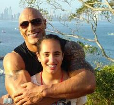 Dwayne Johnson with daughter Simone
