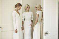 Charlotte Simpson long sleeve wedding dress, open back wedding dress, key hole back wedding dress