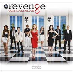 Revenge Wall Calendar: If you're looking for Revenge, you'll find it here in this 2013 wall calendar featuring the cast of the hit ABC show along with character quotes. Exclusively available for purchase online here at Calendars.com!  http://www.calendars.com/Drama-TV/Revenge-2013-Wall-Calendar/prod201300007678/?categoryId=cat00066=cat00066#