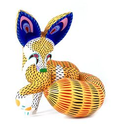 Oaxacan Wood Carvings Miguel Gil Santiango Fox. They paint their carvings with multicolored, intricate patterns. Some of these animals look real, while others are pure fantasy.  Students will create their own animal and reflect on personal connections based on this culture.