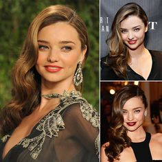 How to get the red carpet hairstyle - beautiful  Sidswept waves like Miranda Kerr. Celebrity hairstyle.