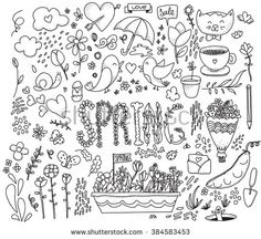 Spring graphics set.