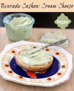 Vegan Garlic Herb flavored Avocado Cashew Cream Cheese