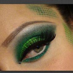 snake skin make up | Green snake skin | Halloween | Pinterest