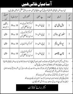 Pak Army CASD EME Rawalpindi Jobs 2021 For LDC, Store Supervisor, Naib Qasid