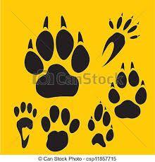 Resultado de imagen de dibujos de huellas de leones en vectores