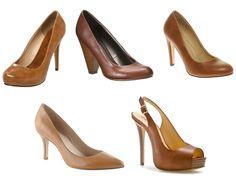 nude & brown heels