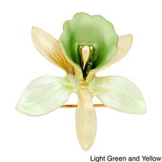 Orchid Flower Brooch Pin - Overstock™ Shopping - Big Discounts on Brooches & Pins